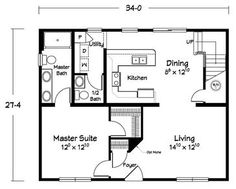 Home Floor Plans On Pinterest Barndominium Small House Plans And Metal Homes