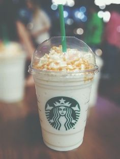 I always get this! Grande Vanilla Bean Frap with inside/out carmel drizzle. It's heaven!