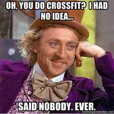 #CrossFit #WorkingOut #WillyWonka