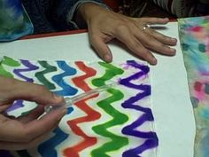 How to dye fabric with permanent Markers.