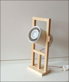 Tin Can Lamp #lighting #reuse #upcycle #home #decor #spotlight #woodworking