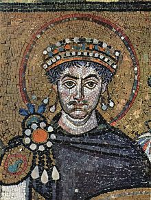 Justinian I.  A roman emperor.  He closed all philosophy schools in 529 AD, as he perceived their pagan character as being at odds with the Christian faith. Justinian I is considered a saint by orthodox christians.