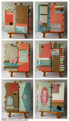 TweetScraps: New Product Blog Hop - Seaside Artbooking Mini-Album