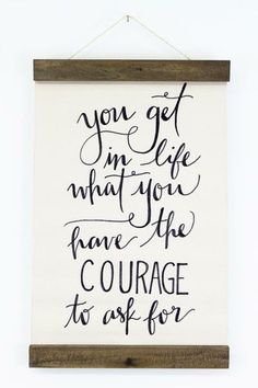 Courage Wall Hanging $70