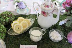 tea parti, parti tea, birthday parties, sugar cube, slice lemon, tea partys, fairy birthday, lemon cut, parti time