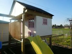 Playhouse with swingset   Do It Yourself Home Projects from Ana White
