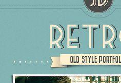 Retro Portfolio – Full free PSD pack
