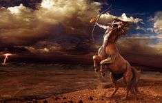 sagittarius, burning man, fantasi, zodiac, native americans, centaur, wallpapers, wallpaper art, greek mythology