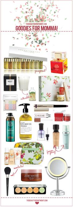 Our Holiday Gift Guides are pouring in. Here's all the beauty buys your mom could wish for! Click the photo for names + links! xo