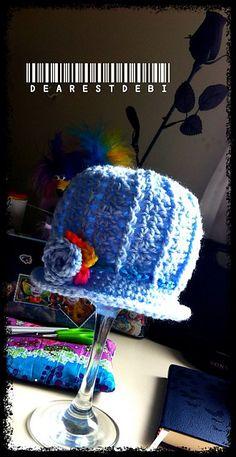 Newborn Beanie Gem Free Crochet Pattern by DearestDebi