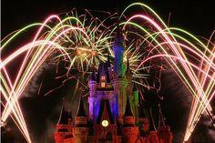 Disney World Laser Lights Show