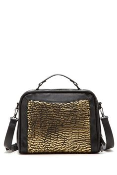 Black and gold satchel