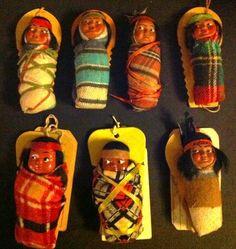 Variety of Skookum doll mailers. Very cute examples. /Ebay