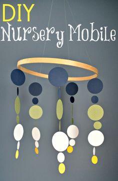 DIY Nursery Mobile | www.decorandthedog.net | #nursery #mobile #diy