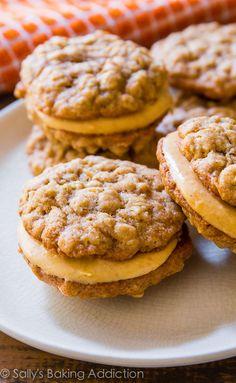 pumpkin creme, oatmeal pumpkin, sandwich cookies