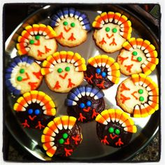 Turkey cookies! Fun and easy to make!