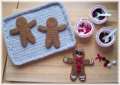 knitted gingerbread decorating kit