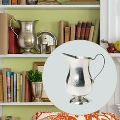 Here's a great way to show him he's your champion: This classic silver-plate footed pitcher resembles a sailing race victory cup. About $80, available at Wayfair.com | Photo: Ted Morrison | thisoldhouse.com