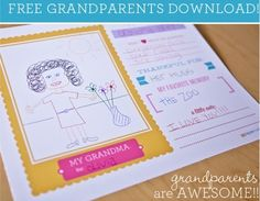 Free Grandparents Day Card Printables