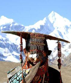 TIbetan headdress #Tibetan # Tibetan art