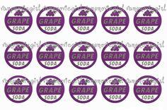 Ellie Up Grape Soda Badge Inspired 1 Inch by VampCandyDesigns, $1.75