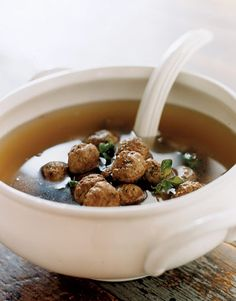 Italian Food Recipes - Easy Italian Recipes - Country Living - Herbed Meatball Soup