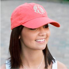 Navy and white Monogrammed Hat