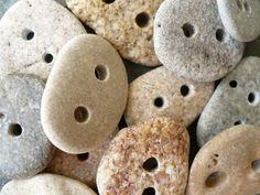 Beach stone buttons. from madeforfun on Etsy