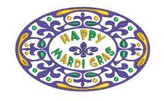 HAPPY MARDI GRAS Fleur de lis Embroidery Design 3 by SewingDivine, $4.99