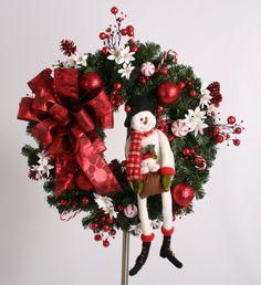 wreath galor, christma wreath, snowman wreath, blue, wonder wreath, winter wreath, wreaths