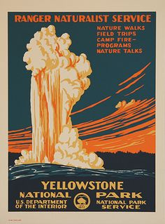 yellowston nation, nation park, park travel, art, national parks, park poster, place, travel posters, yellowston park