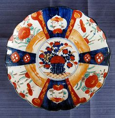 Beautiful 19th century scalloped Imari plate