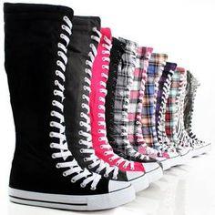 knee high sneakers