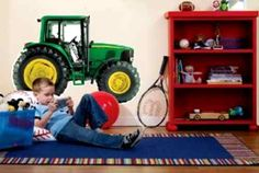 so much john deere room decor on this site...
