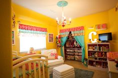 Yellow Carnival-Themed #Nursery
