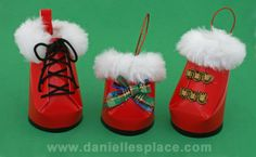 Santa's Boots Christmas Cup Craft Ornament from www.daniellesplace.com
