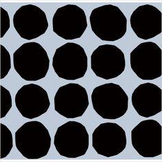 Marimekko - Pienet Kivet Wallpaper in Black and White by Maija Isola.
