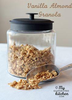 Vanilla Almond Granola {Gluten-free}