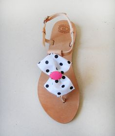 Sandals handmade leather sandals decorated with by MyMarmade #marmade #sandals #summer #neon #dots