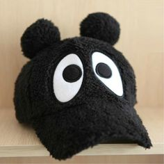 Black Thickened Winter Warm Baseball Cap