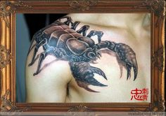 oh wait, is it really a scorpion. #scorpion #tattoo