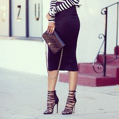 midi skirts, hot outfits, hot shoes, long skirts, black heels, pencil skirts