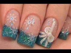 holiday nails, nail art designs, christmas nails, nail arts, bow nails, winter nails, christmas nail art, snowflak, christma nail