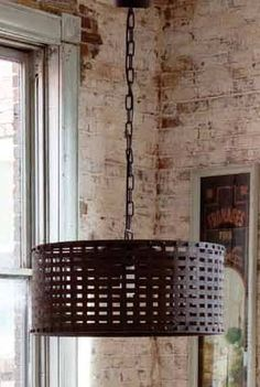 Rustic light fixture for dining room