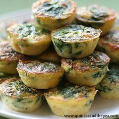Mini Spinach Crustless Quiches