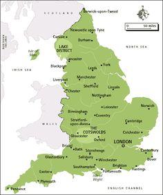 Cities of England
