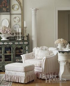 ❥ Country/Cottage Living Room