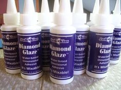 2 oz Bottle of Diamond Glaze by CandytilesStudio on Etsy, $5.35
