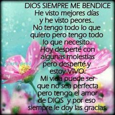 Dios me bendice