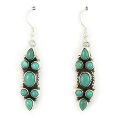 Carico Lake Turquoise Earrings by Marcella James $98.00